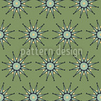 Green Stars Repeating Pattern