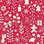 Une nuit de Noël silencieuse Motif Vectoriel Sans Couture