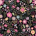 Blumenvielfalt Nahtloses Vektormuster