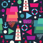 A Sailor Life Seamless Pattern