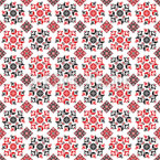 Romanian Embroidery Snowflakes Seamless Vector Pattern Design