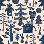 Mystical Fairytale Forest Repeating Pattern