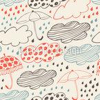 Regnerisches Wetter Nahtloses Vektormuster