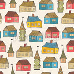 Tiny Village Pattern Design