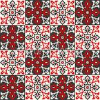 Bordado romeno Design de padrão vetorial sem costura