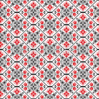 Romanian Tessellation Seamless Vector Pattern Design