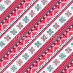 Christmas Embroidery Seamless Pattern