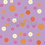Cute Blossoms Seamless Vector Pattern Design