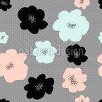 Mid Century Blumen Nahtloses Vektormuster