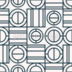 Geometrisches Spiel Nahtloses Vektormuster