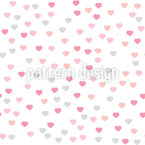 Valentines Day Hearts Seamless Vector Pattern Design
