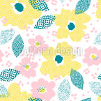 Raster Bloom Repeat Pattern