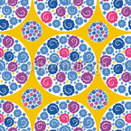 Flower Bouquet Yellow Design Pattern