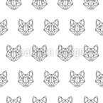 Polygonaler Fuchs Vektor Muster
