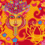 Bollywood Fantasia Design de padrão vetorial sem costura
