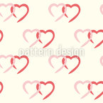 Affectionate Hearts Vector Pattern