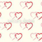 Liebevolle Herzen Vektor Muster