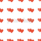 Melted Hearts Seamless Vector Pattern Design
