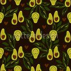 Schöne Avocados Nahtloses Vektormuster