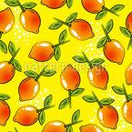 Pop Art Lemon Seamless Vector Pattern Design