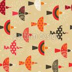 Grafische Vögel Nahtloses Muster