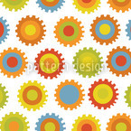 Gear Color Seamless Vector Pattern