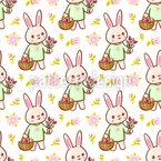Sweet Easter Bunnies Pattern Design