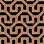 Formas Árabes Design de padrão vetorial sem costura
