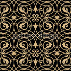 Victorian Wrought Iron Seamless Vector Pattern Design