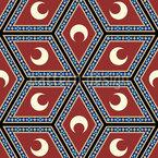 Arabischer Mond Vektor Muster