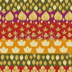 Leafstripes Seamless Vector Pattern Design