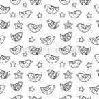 Birds And Stars Pattern Design