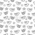 Vögel und Sterne Muster Design