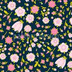 Visão Mille Fleurs Design de padrão vetorial sem costura