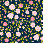 Mille Fleurs Vision Nahtloses Vektormuster