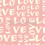 Love Love Love  Seamless Vector Pattern Design