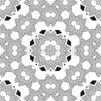 Mandala Triangular Design de padrão vetorial sem costura