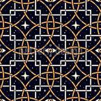 Olho de Estrela Design de padrão vetorial sem costura