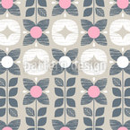Flowers And Sweets Seamless Vector Pattern