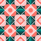 Floral Flower Tiles Repeat Pattern