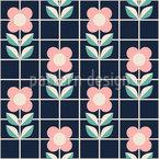 Blumen Und Gitter Muster Design