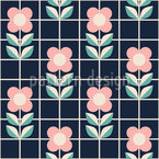 Flowers And Grids Pattern Design