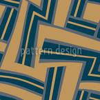 Labyrinth Blau Nahtloses Vektormuster