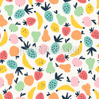 Alle Arten von Früchten Nahtloses Vektormuster