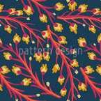 Winzige Blumenzweige Nahtloses Muster