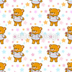 Cute Bears Seamless Vector Pattern