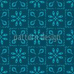 Aquatic Vintage Tiles Repeat Pattern