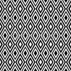 菱形モノクロムス シームレスなベクトルパターン設計