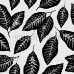 Dunkle Blätter Vektor Muster