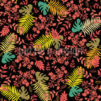 Forest Leaves And Twigs Repeat Pattern